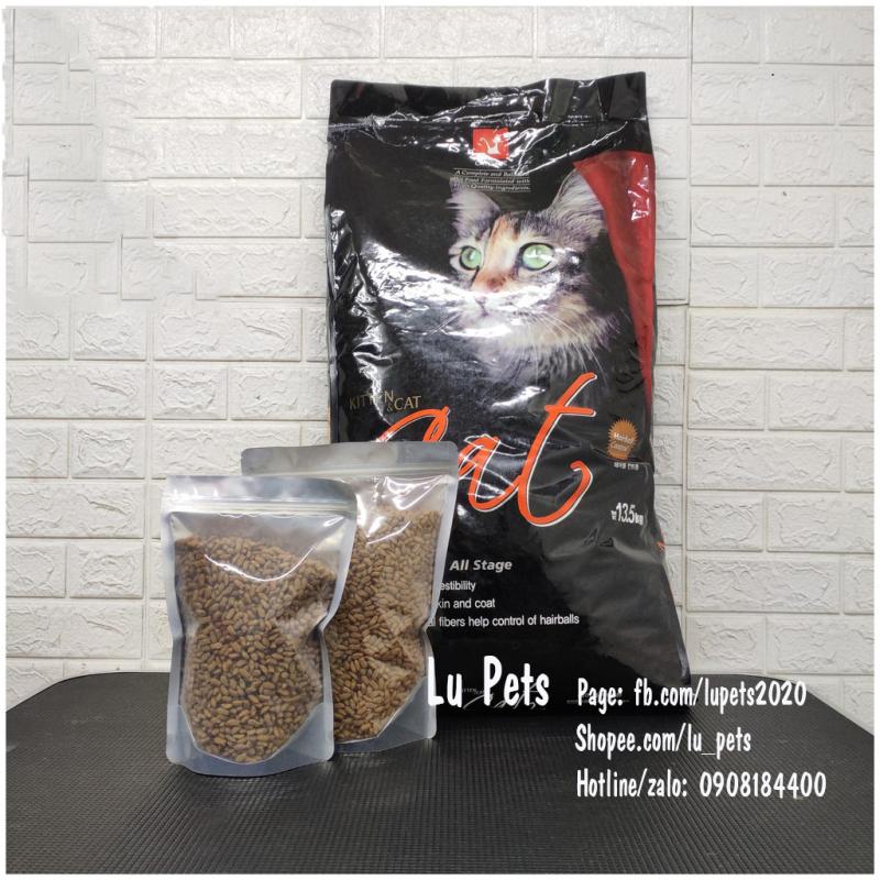 Hạt Khô Cat Eye Cho Mèo   Thức Ăn Hạt CatEye túi zip 1kg