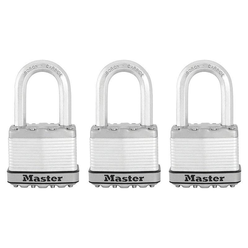 Bộ 3 Ổ Khóa Master Lock M5X TRILFCCSEN Rộng 50mm Càng Dài - MITISHOP