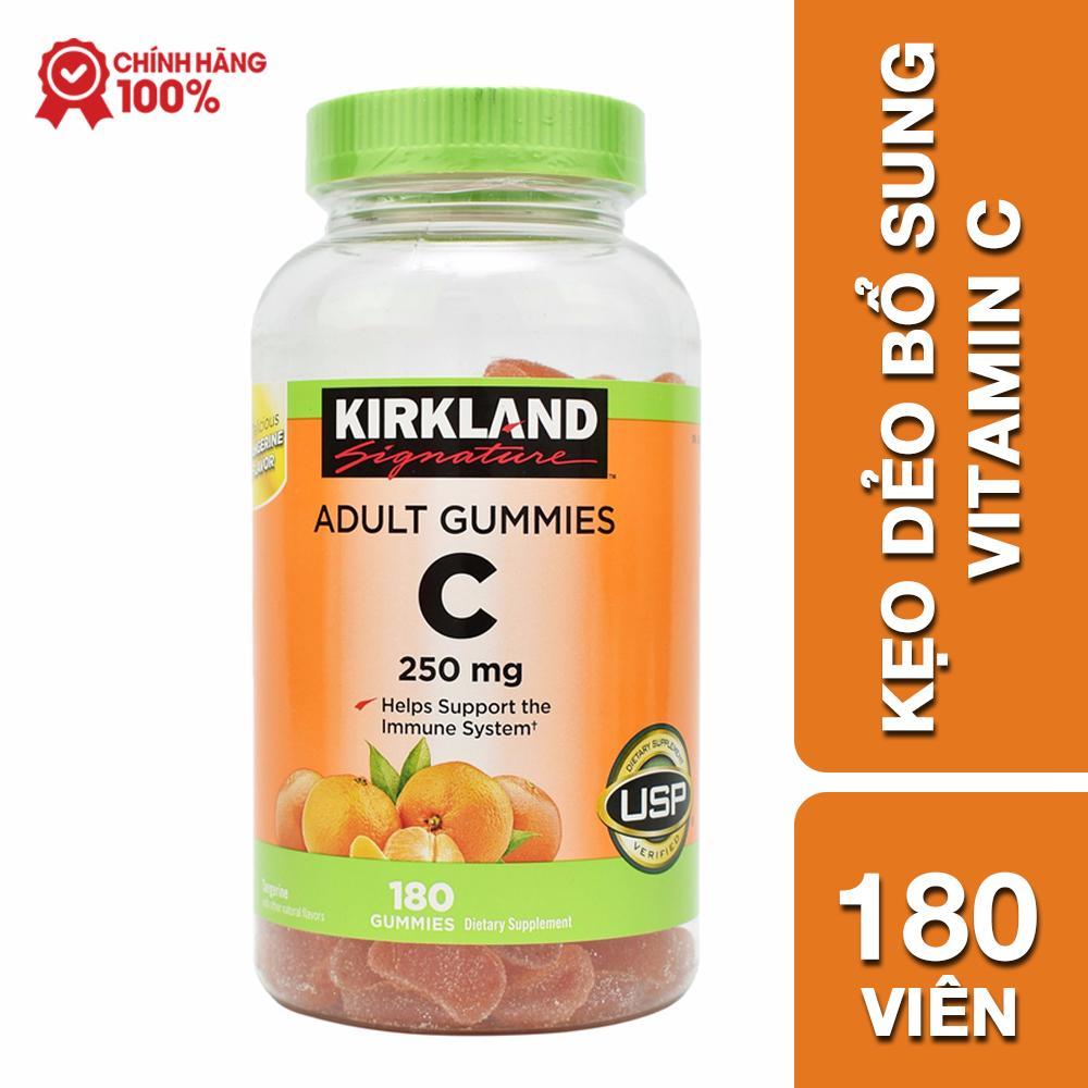 Kẹo dẻo bổ sung Vitamin C Kirkland Adult Gummies C 250mg chính hãng