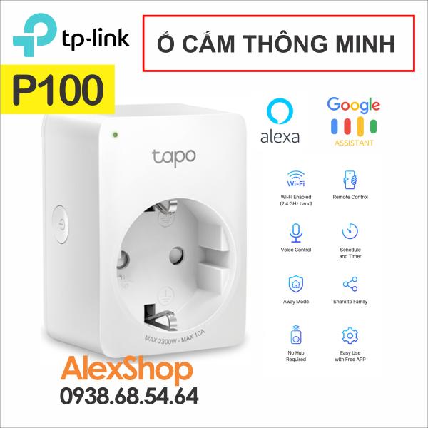 [HCM][Chính Hãng] Ổ Cắm Wi-Fi Thông Minh TP-Link P100 Siêu Nhỏ Gọn Thích Hợp Google Assistant và Alexa
