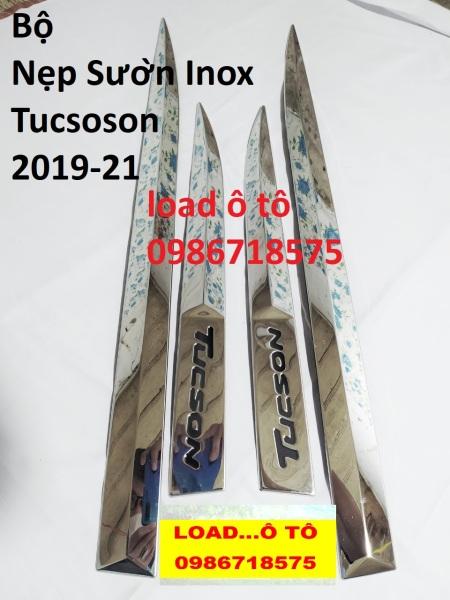Ốp Nẹp Sườn Huyndai Tucson 2019-2021 Inox Bóng Cao Cấp