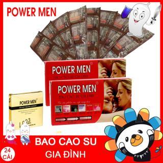 Bao cao su POWERMEN Gia đình 24 chiếc - Bao cao su Power Men dùng cho gia đình + TẶNG KÈM 1 Hộp 3 chiếc Bcs Powermen Điệp viên tàng hình 0.03 kéo dài thumbnail