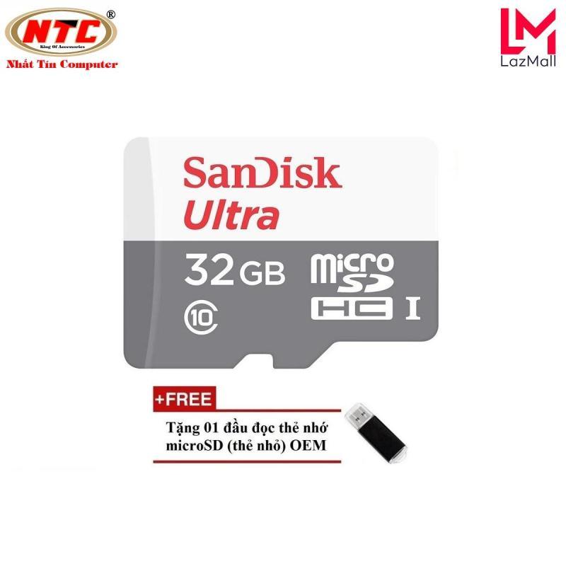 Thẻ nhớ MicroSDHC SanDisk Ultra 533X 32GB 80MB/s - new Version (Bạc) + Tặng đầu đọc thẻ MicroSDHC