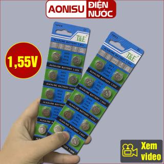 (Vĩ 10 Viên) Pin Nút AG13 - LR44W 1.55V - Pin Cúc Áo, Pin Đồng Xu, Pin Lithium, Pin Đồng Hồ, Pin Chuyên Dụng, Hàng Chất Lượng Cao, AONISU thumbnail
