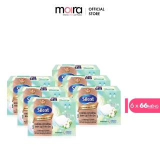 Bộ 6 Hộp bông trang điểm (Bông tẩy trang) cao cấp Silcot Premium 66 miếng hộp thumbnail