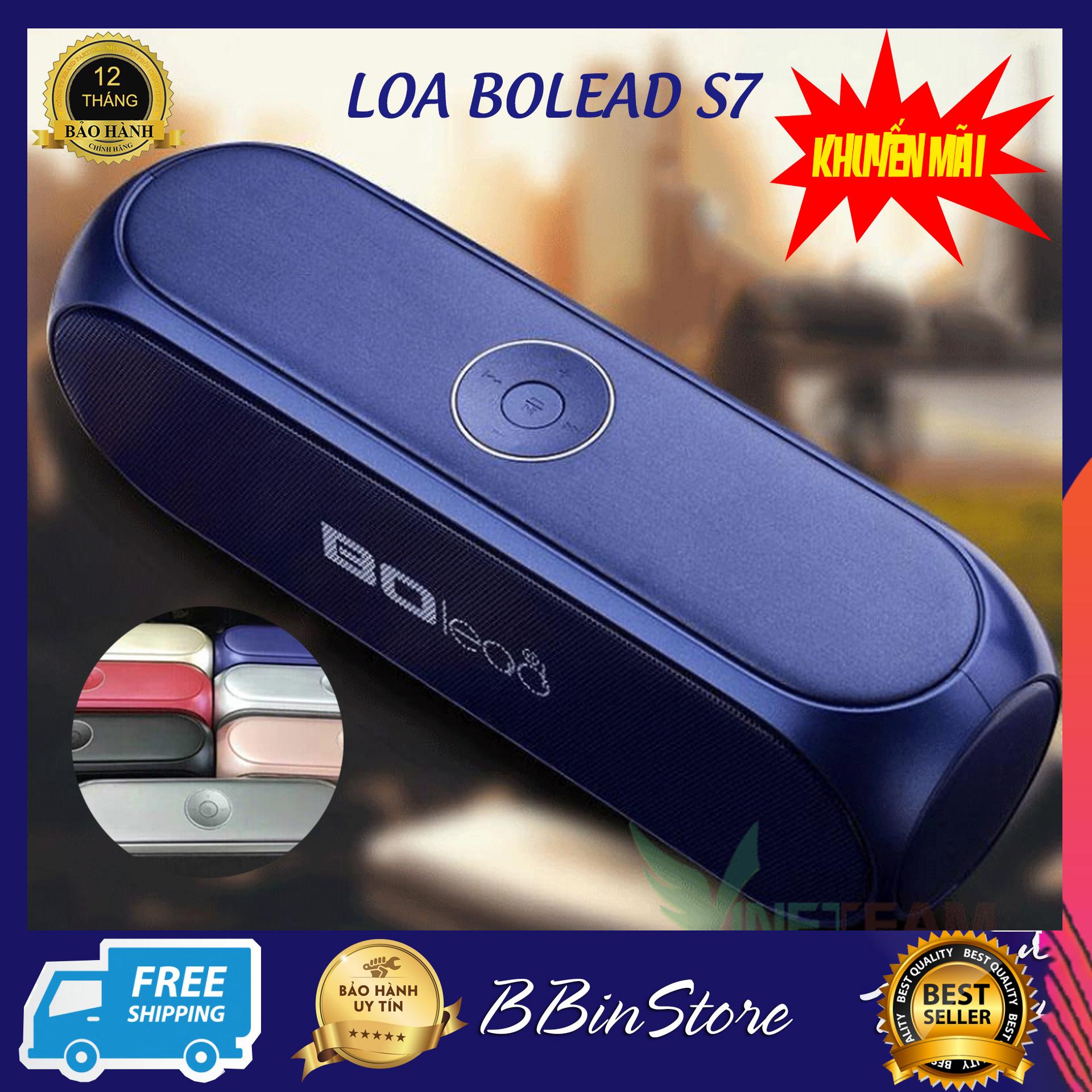 Loa Bluetooth Bolead S7 - Thiết Kế Chất Lượng, Gọn Nhẹ, Dễ Dàng Sử Dụng, Âm Thanh Tuyệt Hảo -...