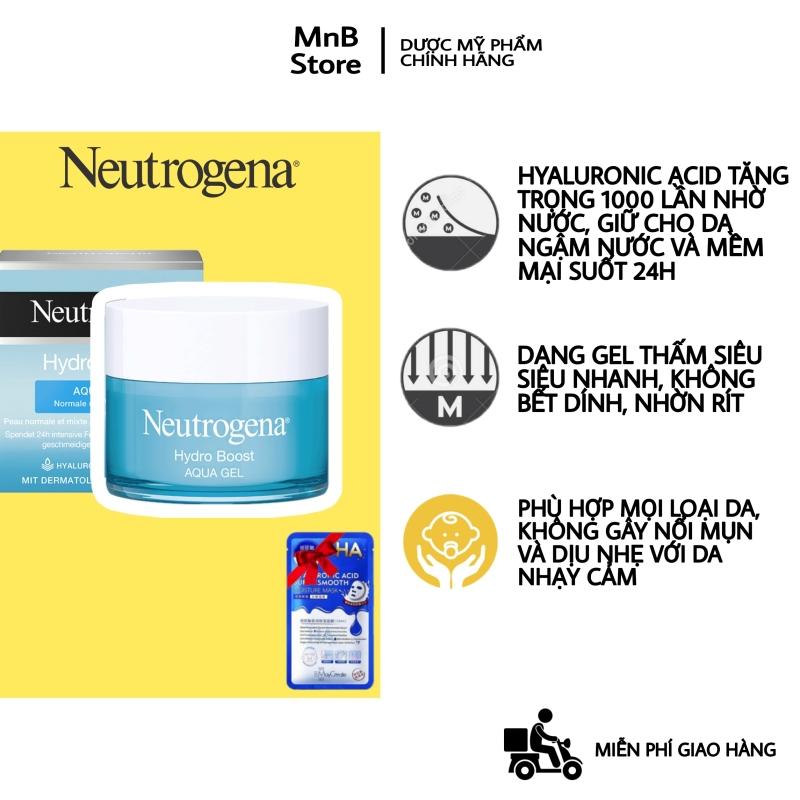 Kem Dưỡng Ẩm Neutrogena Hydro Boost Water Gel cho da dầu mụn, mỏng nhẹ nhanh thấm 50ml