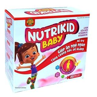 Siro Ăn ngủ ngon Nutrikid baby - Bổ sung Lysin, Vitamin B1, B6 giúp bé ăn ngon, ngủ tốt, tăng sức đề kháng- Hộp 20 ống thumbnail