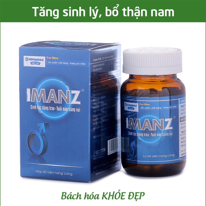 Viên uống IMANZ tăng cường sinh lý nam, bổ thận, tráng dương, tăng sinh lực - Chai 60 viên