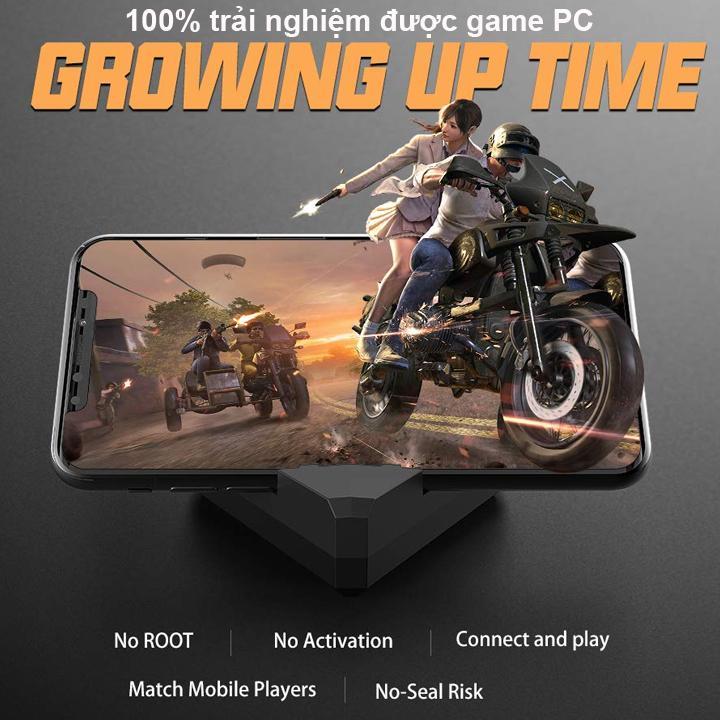 Bộ Chuyển Đổi FREEWOLF G5 hỗ trợ chơi game PUBG Mobile cho Android IOS iPad như PC