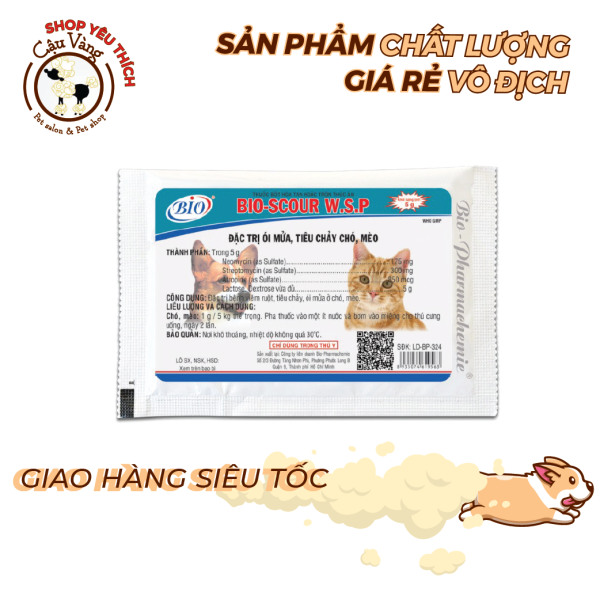 Bio Scour  5g - Hỗ trợ kiểm soát viêm ruột, tiêu chảy trên thú cưng