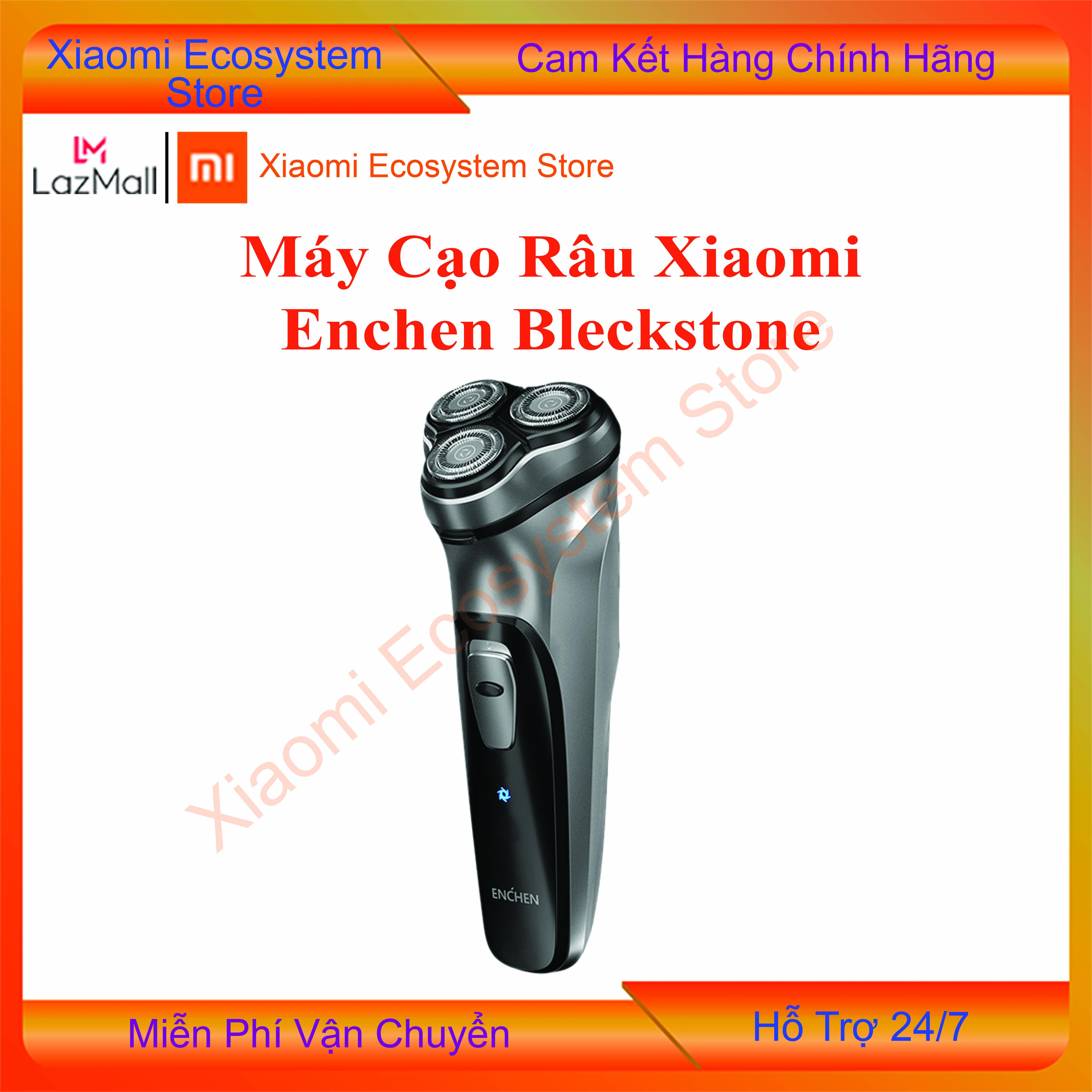 [MIỄN PHÍ SHIP] Máy cạo râu Xiaomi ENCHEN Blackstone Shaver Màu đen bạc đầu dao nổi 3D an toàn, cạo sạch, dao cạo râu điện phiên bản sạc pin thông minh