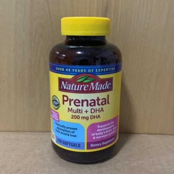 (Mẫu mới] -date xa-Vitamin tổng hợp Bổ bầu Mỹ - Prenatal + DHA 200mg chai 150 viên