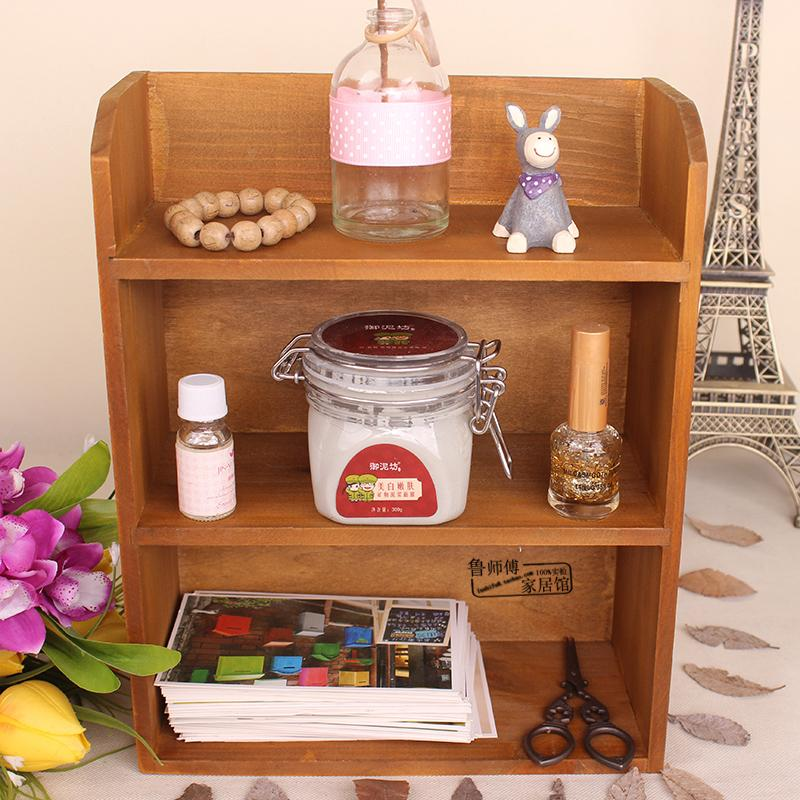 Desktop Solid Wood Storage Shelf Multilayer Put Food of Small Shelf Mini Storage Rack wu pin jia Bedroom Dormitory