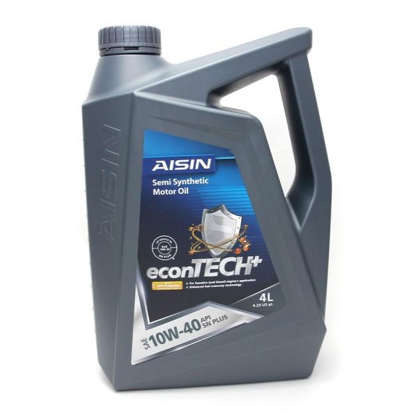 Nhớt động cơ AISIN ESSN1044P 10W-40 SN PLUS econTECH+ Semi Synthetic 4L