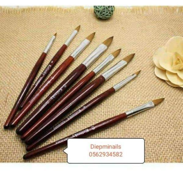 Cọ đắp bột móng hiệu kolinski nail bút đắp bột móng nail loại đẹp đầu cọ mướt giá rẻ