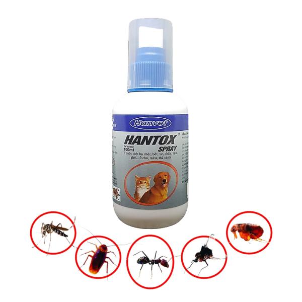 Thuốc xịt ve, bọ chét chó mèo - Hantox Spray xịt 100ml