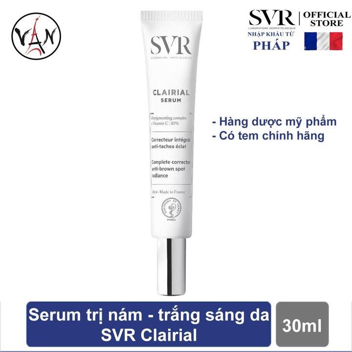 [Tem chính hãng] Tinh chất làm mờ vết nám, sáng và mềm mịn da SVR CLAIRIAL Serum 30ml nhập khẩu