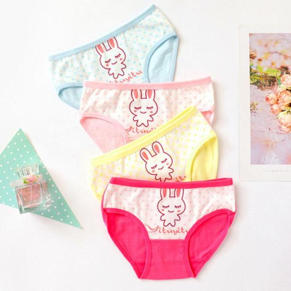 Giá bán Quần lót cotton cho bé gái 1-11 tuổi hình thỏ nhiều màu sắc xinh xắn BBShine – C008