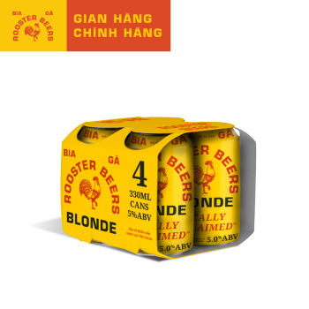 Rooster Beers Blonde 330ml X 4 lon
