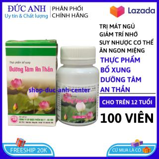 Viên uống ngủ ngon thảo dược Dưỡng Tâm An Thần, giảm stress mất ngủ, suy nhược cơ thể , giúp ăn ngon - Hộp 30 viên Chuẩn BYT HSD 2023 thumbnail