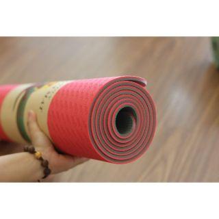 Thảm tập YOGA TPE Cao Cấp 2 lớp- 6mm dộ bám cao , chống trơn trượt, tặng Bao Đựng Thảm Tập Yoga thumbnail