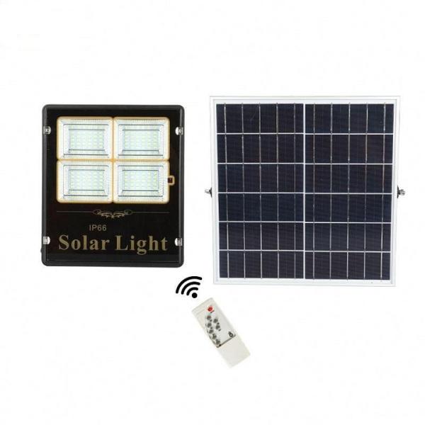 Đèn năng lượng mặt trời 100W chống nước kèm pin điều khiển từ xa