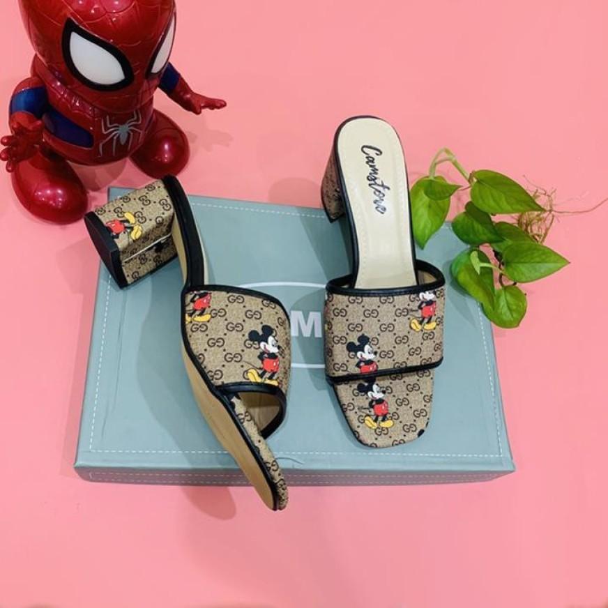 D5 - Giày cao gót hình chuột micky đế 5 cm giá rẻ
