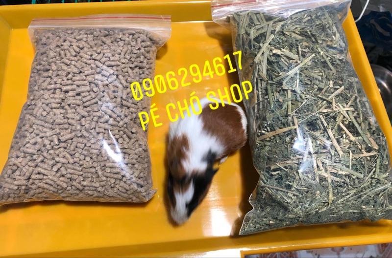 Combo Cỏ Alfalfa khô + Bịch Cám dinh dưỡng cho thỏ,bọ ú .