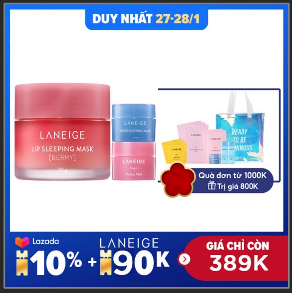 Mặt nạ ngủ dưỡng môi hương quả mọng Laneige Lip Sleeping Mask Berry 20g + Tặng Bộ Mask Mini Laneige giá rẻ