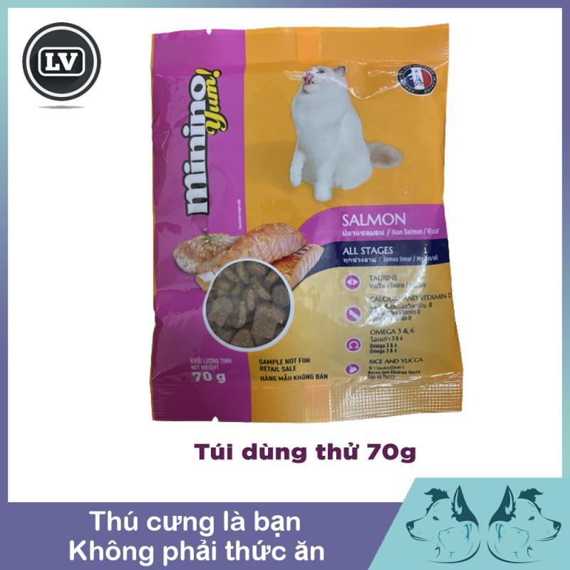 Hạt khô cho mèo - Thức ăn cho mèo vị hải sản, cá hồi Minino Yum