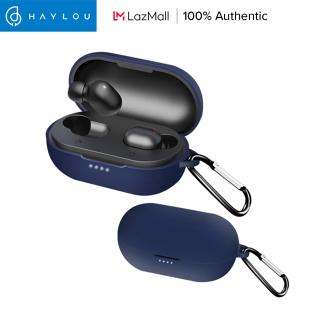 Ốp silicon thiết kế đơn giản kèm móc khóa chống mất cho tai nghe bluetooth Haylou GT1 Pro GT1 XR - INTL thumbnail