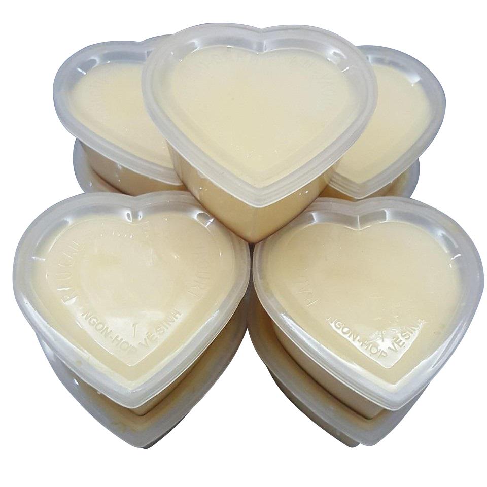Combo 20 Hộp Làm Bánh Flan Hình Tim Gồm Nắp Hiệu Vĩnh Trường/ Hộp đựng caramel trái tim được làm từ nhựa an toàn, có tính chịu nhiệt,