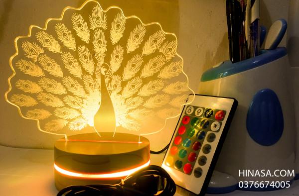 Đèn ngủ 16 màu - Con Công