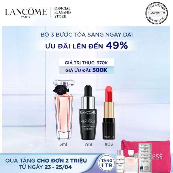 Bộ 3 bước chăm sóc da & makeup toả sáng ngày dài Lancome Advanced Genifique