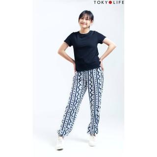 Quần lanh nữ TOKYOLIFE dài chun gấu E3 C929-004C thumbnail