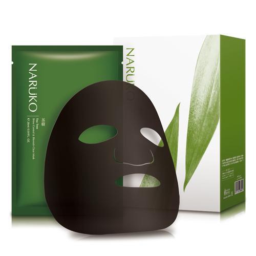 Naruko mặt nạ trà tràm kiểm soát dầu và mụn hộp 8 miếng - Naruko Tea Tree Shine Control and Blemish Clear Mask 8pcs box