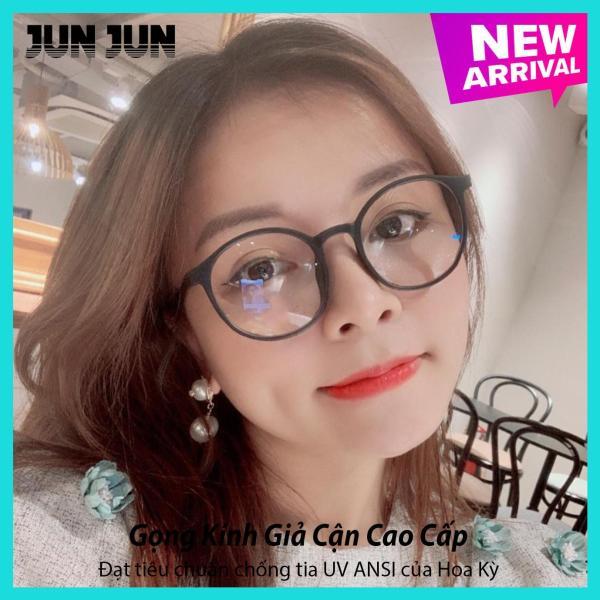 Giá bán Tặng kèm túi đựng + Khăn lau - Gọng kính giả cận nam nữ cao cấp Hàn Quốc ViVo JJTT- Kính cận tròn không độ mẫu đẹp lạ - Bảo hành 12 tháng 1 đổi 1