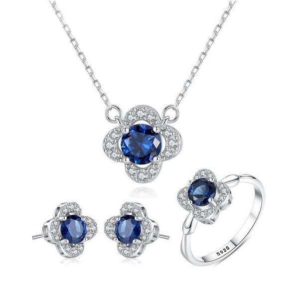 Combo bộ trang sức bạc nữ trang sức đính đá đẹp cao cấp 3 món BNT614 Bảo Ngọc Jewelry [THIẾT KẾ ĐỘC QUYỀN]