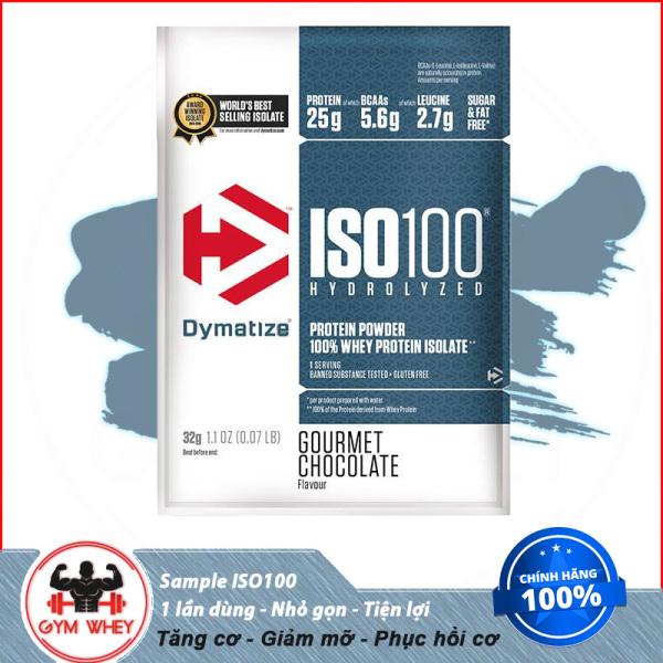 [Lấy mã giảm thêm 30%]Sample Iso 100 Tăng Cơ Tối Ưu - Dymatize - 1 gói giá rẻ