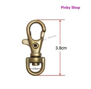 Móc càng cua, khóa càng cua màu đồng cổ 3cm làm phụ kiện túi xách Pinky Shop 1