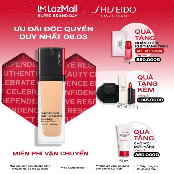 Phấn nền dạng lỏng Shiseido Synchro Skin Self-Refreshing Foundation 30ml nhập khẩu
