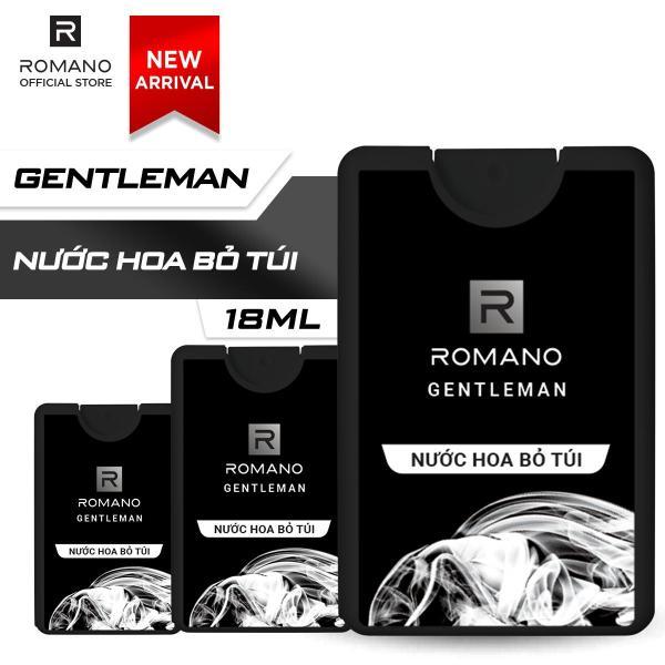 Combo 3 Nước hoa bỏ túi Romano Gentleman hiện đại ấn tượng 18ml/chai