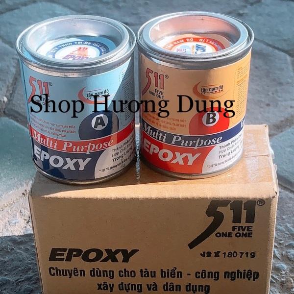 Bộ keo dán đá, nhựa, gỗ, kim loại Epoxy 511 A và B Multi Purpose Tan Nam Do