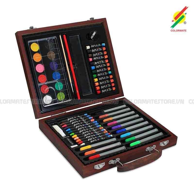 Giảm Giá Ưu Đãi Khi Mua Bộ Màu Vẽ đa Năng Hộp Gỗ Colormate MS 56W