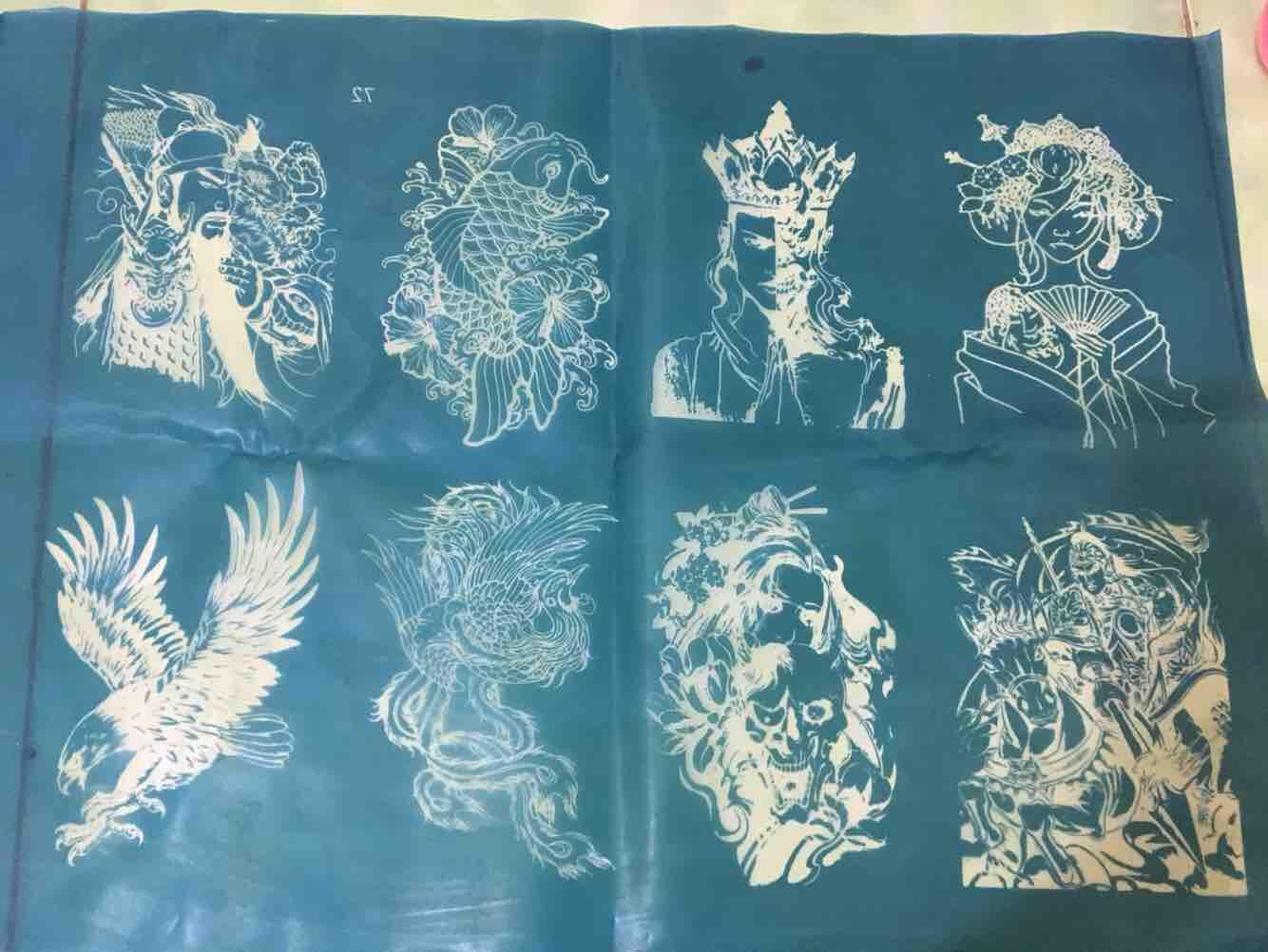Khuân vẽ henna khổ lớn nhiều hình tặng kèm mực henna