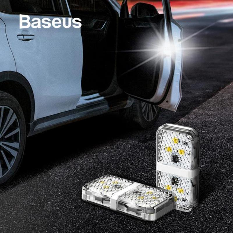 Bộ 2 chiếc 6 đèn led gắn cánh cửa xe ô tô báo hiệu và cảnh báo an toàn chống va chạm - Phân phối bởi Baseus Vietnam