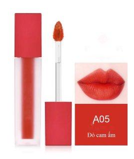Son môi kem lì dưỡng mối cao cấp, không trôi, mềm, mẫu mới nhất siêu xinh siêu sang chanh - STT Đỏ cam ấm A05 thumbnail