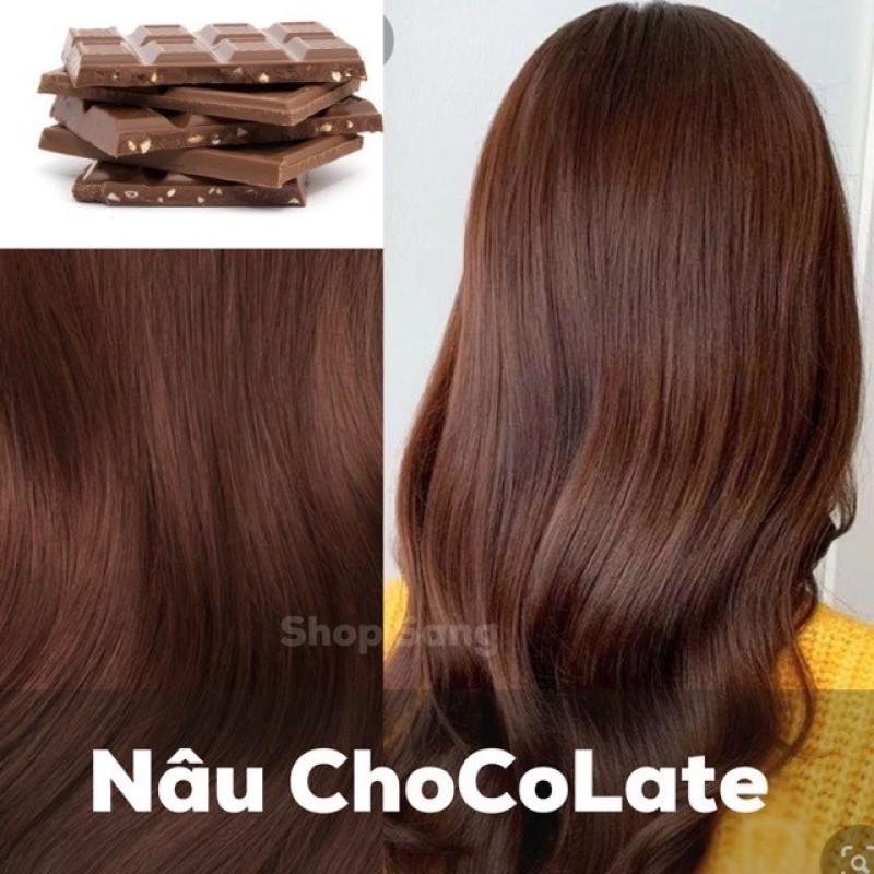 Nhuộm màu socola tại nhà - Thuốc nhuộm tóc màu chocolate giá rẻ