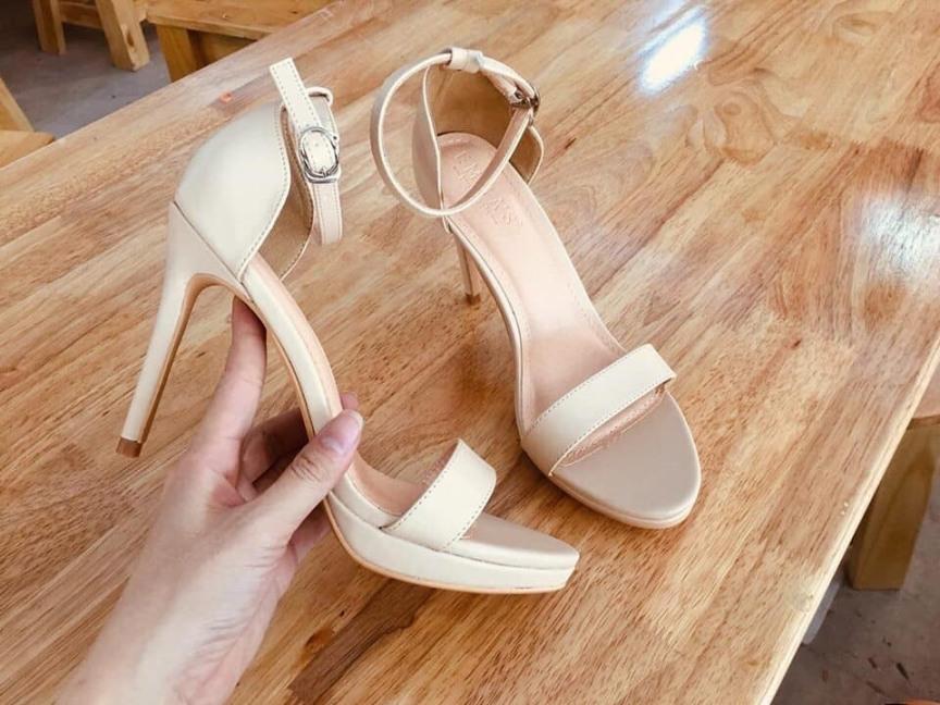 Giày xăng đan cao gót 11p có đúp da mờ hàng xuất chất lượng tốt Thời trang cao cấp Depvashock giá rẻ